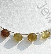 wholesale Grossular Garnet Onion Shape Beads