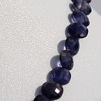 aaa Iolite Gemstone Beads Coin