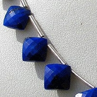 wholesale Lapis Gemstone Puffed Diamond Cut