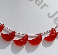 wholesale Carnelian Gemstone  Moon Shape