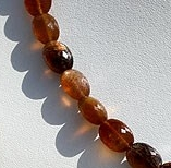 16 inch strand Golden Moonstone Oval Faceted