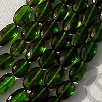 aaa Chrome Diopside  Oval Faceted Beads