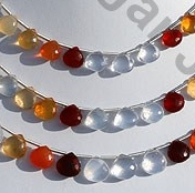 wholesale Mexican Fire Opal  Gemstone  Heart Briolette