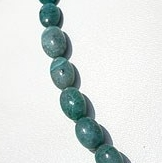 16 inch strand Chrysocolla Plain Oval Beads