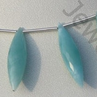 wholesale Larimar Gemstone Dew Drops Beads