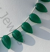 aaa Green Onyx  Carved Leaf