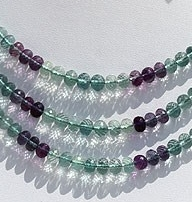 wholesale Fluorite Gemstone Beads  Faceted Rondelle