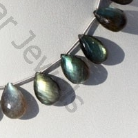 wholesale Labradorite Gemstone  Flat Pear Briolette
