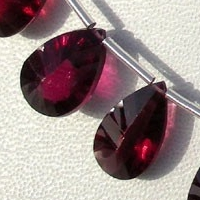 wholesale Rhodolite Garnet Both Side Concave Cut