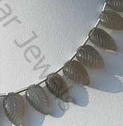 aaa Grey Moonstone Carved Leaf