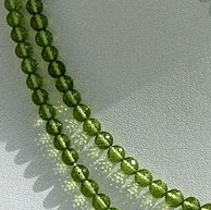 16 inch strand Peridot Gemstone Beads  Faceted Rounds