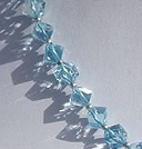 16 inch strand Blue Topaz Gemstone Faceted Cube
