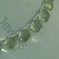 Green Amethyst Gemstone Flower Beads