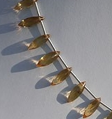8 inch strand Citrine Gemstone  Dew Drops