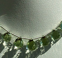 aaa Green Amethyst Gemstone faceted Chestnut