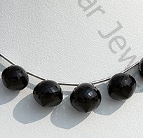 wholesale Black Spinel Onion Shape Beads