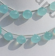wholesale Sea blue chalcedony Onion shape