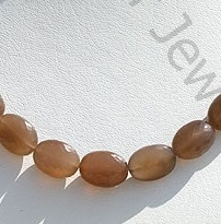 wholesale Coffee Moonstone Faceted Oval