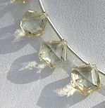 8 inch strand Scapolite Gemstone Polygon Diamond Cut