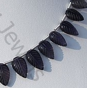 aaa Iolite Gemstone Beads  Carved Leaf