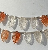 wholesale Sunstone Carved Leaf