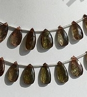 wholesale Andalusite Gemstone  Flat Pear Briolette
