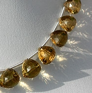 wholesale Champagne Citrine faceted chestnut