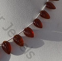 aaa Spessartite Gemstone  Carved Leaf