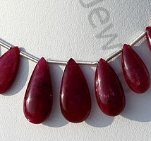 wholesale Ruby Gemstone  Flat Pear Plain