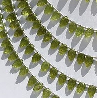 8 inch strand Vesuvianite Carved Leaf