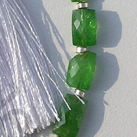 aaa Tsavorite Gemstone Faceted Rectangle Beads