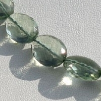 16 inch strand Green Amethyst Gemstone Oval Faceted
