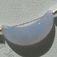 aaa Chalcedony Gemstone  Moon Shape