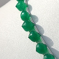 8 inch strand Green Onyx  Onion Shape