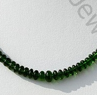 wholesale Chrome Diopside Plain Beads