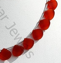 aaa Carnelian Gemstone Twisted heart Briolette