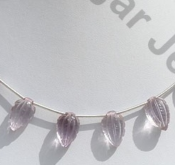 wholesale Pink Amethyst Carved Beads