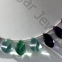 aaa Fluorite Gemstone Beads  Twisted Tear Drops