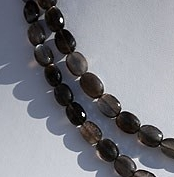 16 inch strand Black Moonstone Faceted Oval