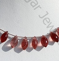 wholesale Strawberry Quartz Chandelier Briolette