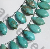 aaa Turquoise Gemstone Dolphin Briolette