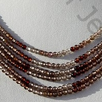 wholesale Brown Zircon Gemstone Faceted Rounds
