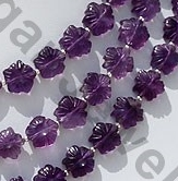 aaa Amethyst Gemstone Flower Beads