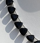 8 inch strand Black Spinel Trilliant Cut Beads