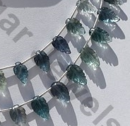 aaa Fluorite Gemstone Beads  Carved Leaf