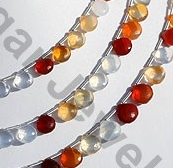 aaa Mexican Fire Opal  Gemstone  Heart Briolette