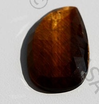 4 inch strand Tiger Eye Rose Cut Slice