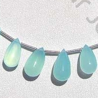 wholesale Dyed Blue Chalcedony Plain Tear Drops