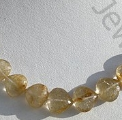 wholesale Golden Rutilated Quartz Heart Briolette