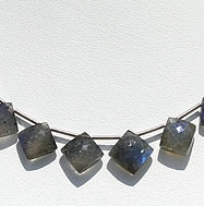 wholesale Labradorite Blue Power Cushion Beads